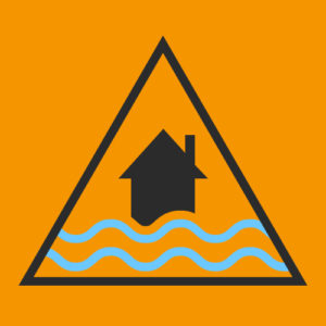 Yellow Flood Status warning icon