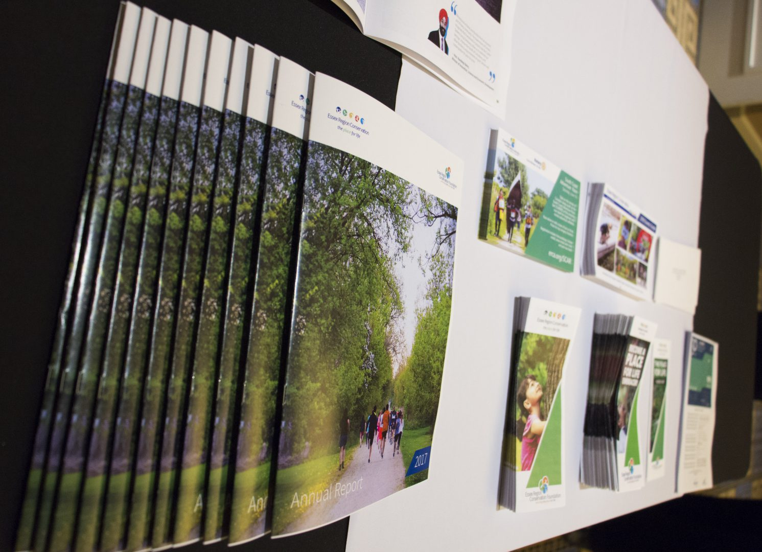 ERCA publications on a desk