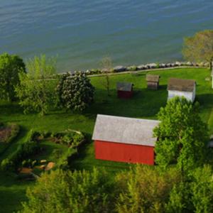 John R Park Homestead aerial image