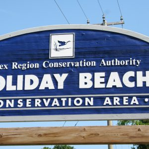Holiday Beach Conservation Area entrance sign