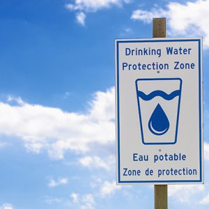 Drinking Water Protection Zone sign