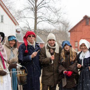 A group of reenactors at Maple Festival