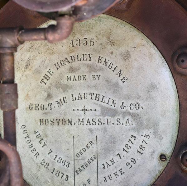 JRPH Steam Engine Nameplate