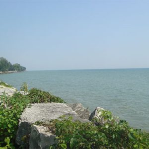 looking across lake Erie from the JRPH shoreline